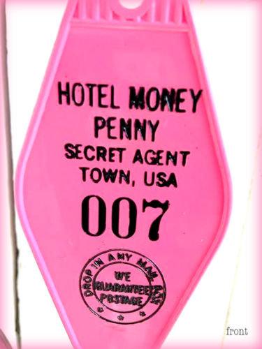 JAMES BOND inspired - HOTEL MONEY PENNY KEYTAG