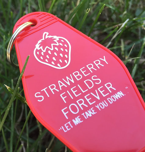 Beatle's Inspired STRAWBERRY FIELDS FOREVER tag