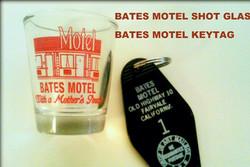 BATES MOTEL SHOT GLASS & KEYTAG
