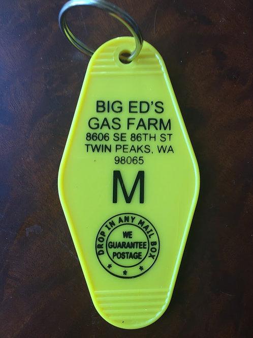 """TWIN PEAKS inspired """"Big Ed's Gas Farm"""" Keytag"""