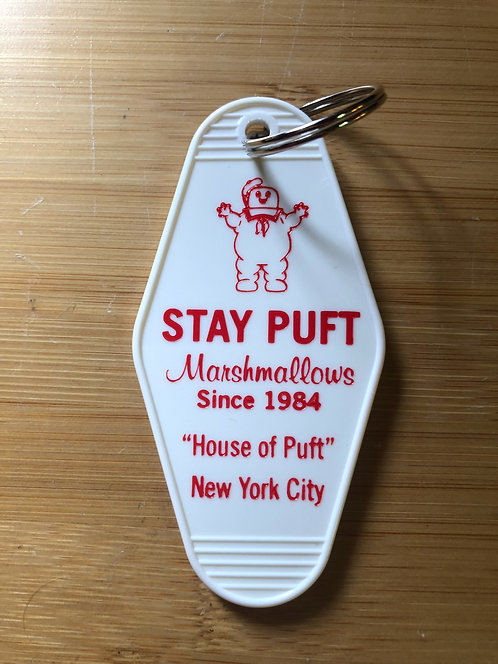 """Ghostbusters """"stay puft"""" key tag"""