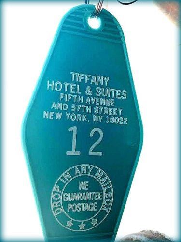 TIFFANY HOTEL & SUITES Key tag - Free Shipping!