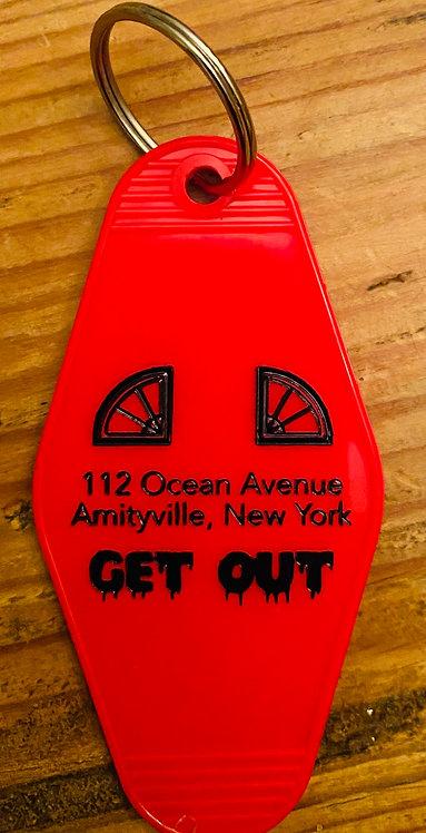 Amityville horror inspired keytag