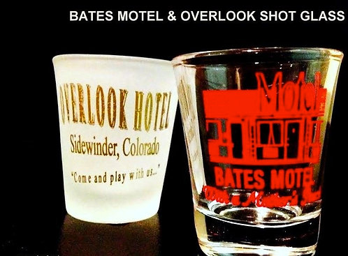 BATES MOTEL & OVERLOOK SHOT GLASS COMBO - FREE SHI
