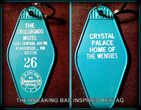 """THE BREAKING BAD inspired """"CROSSROADS MOTEL"""" tag"""