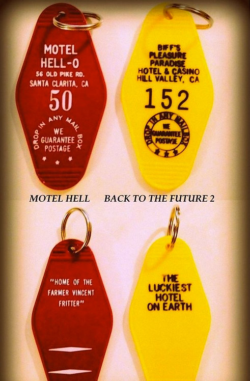 BACK TO THE FUTURE 2 & MOTEL HELL key tags - FREE
