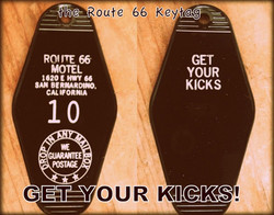 THE ROUTE 66 keytag - FREE SHIPPING