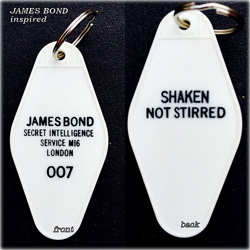 JAMES BOND inspired 007 keytag