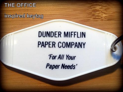 OFFICE inspired DUNDER MIFFLIN Paper Company Keytag
