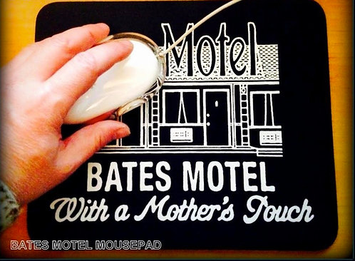 BATES MOTEL KEY TAG, HANGAR & MOUSEPAD