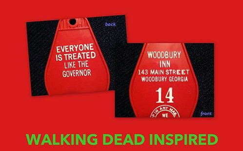 WALKING DEAD KEYCHAIN - Woodbury Inn - FREE SHIPP