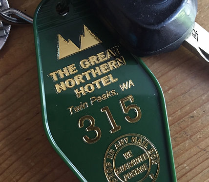 "Twin Peaks Inspired ""GREAT NORTHERN HOTEL keychain"