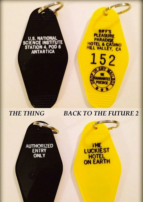 THE THING & BACK TO THE FUTURE 2 key tags - FREE S