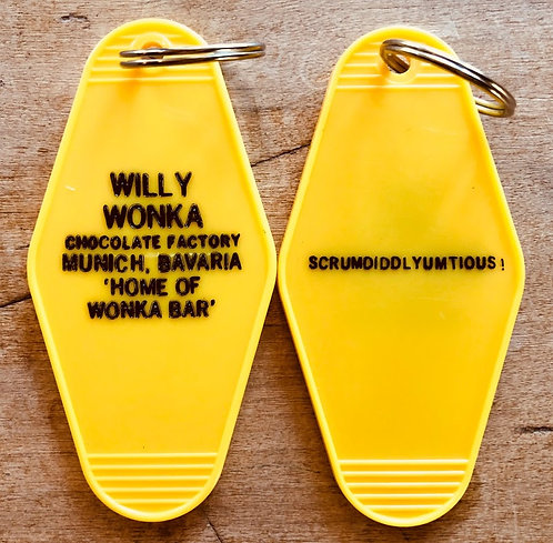 Willy Wonka inspired keytag