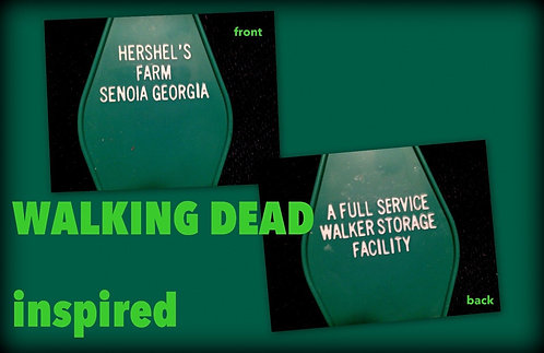 "WALKING DEAD inspired ""HERSHEL'S FARM"" KEYTAG"