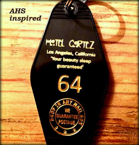 American Horror Story HOTEL CORTEZ keytag