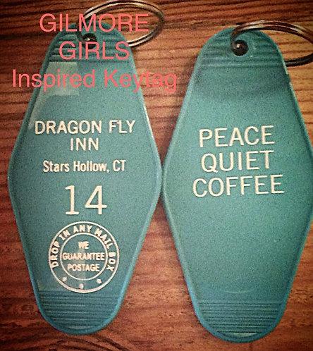 """GILMORE GIRLS inspired """"Dragon Fly Inn"""" keytag"""