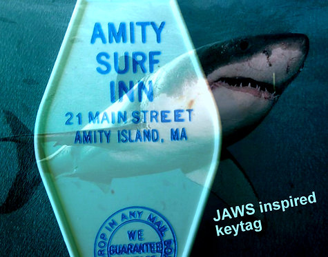 "JAWS Inspired ""Amity Surf Inn"" KEYCHAIN, key fob -"