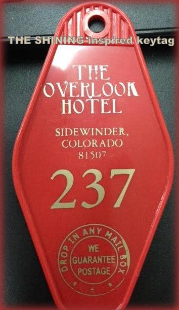 THE SHINING OVERLOOK HOTEL ROOM 237 KEYFOB