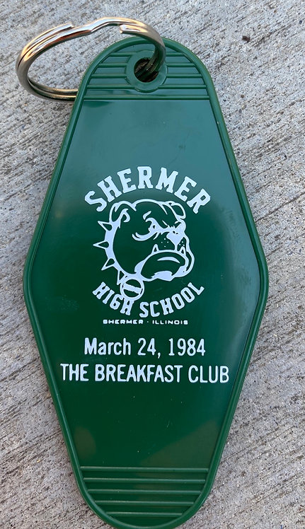 SHERMER HIGH—  breakfast club inspired keytag