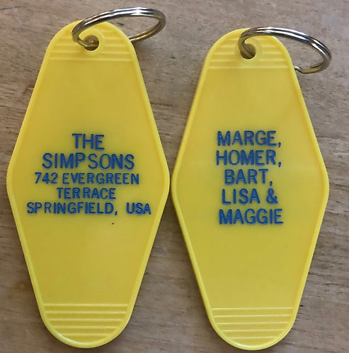 The Simpsons inspired keytag