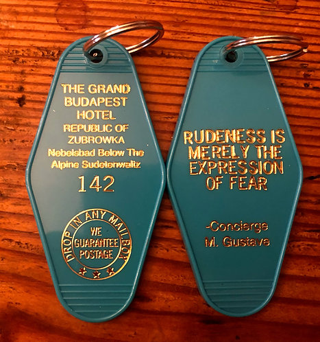 Grand Budapest Keytag in Pink,Teal, or White