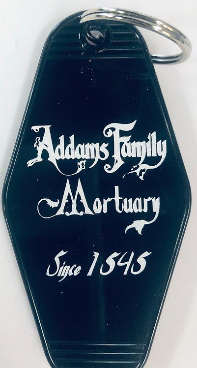Addams family mortuary key tag