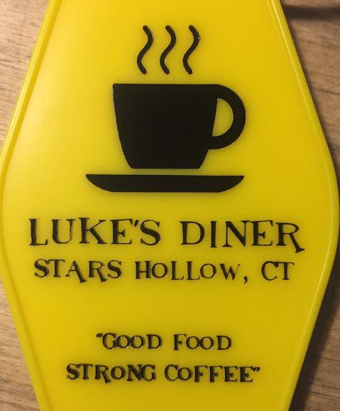 """NEW! GILMORE GIRLS inspired """"Luke's Diner' Keytag"""