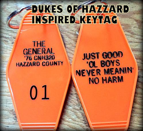 "DUKES OF HAZARD inspired ""The General"" Keytag"