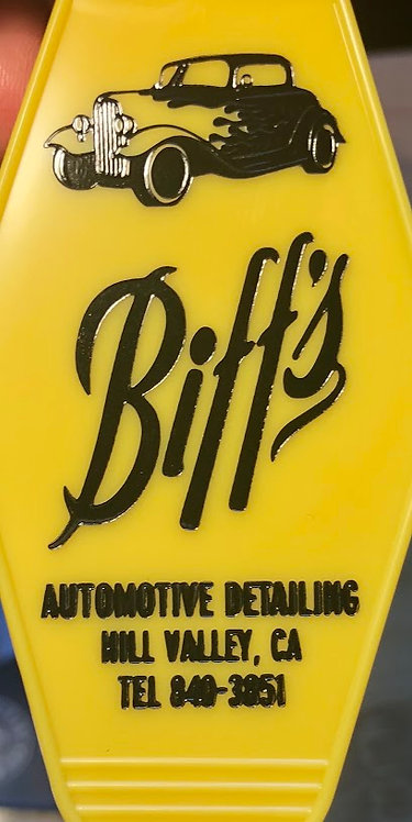 Back To The Future inspired BIFF'S AUTOMOTIVE keytag