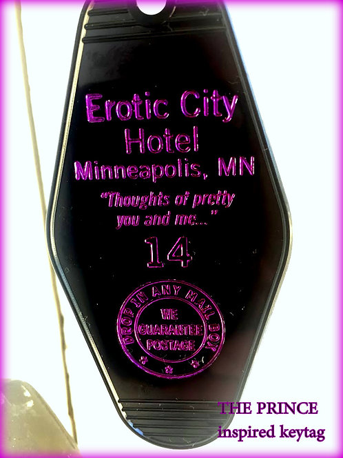 PRINCE inspired EROTIC CITY keytag