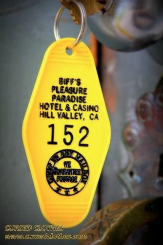 "key BACK TO THE FUTURE 2 inspired /""Biff/'s Pleasure Paradise/"" Keytag"