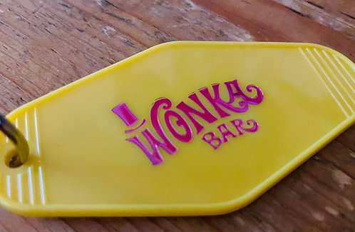 Willy Wonka and the chocolate factory inspired keytag