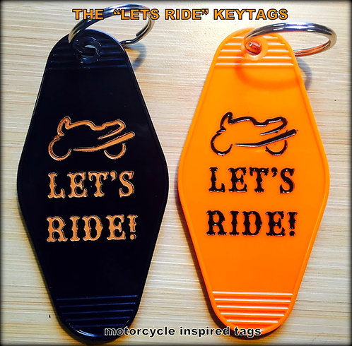 LETS RIDE Motorcycle Keytag - NEW!
