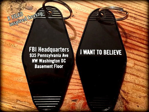 X FILES inspired keytag FBI Headquarters