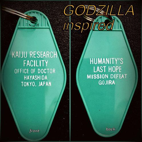GODZILLA inspired Kaiju Research Facility Keytag