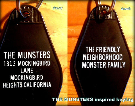 """The MUNSTERS"" innspired KEYCHAIN, key fob - FREE"