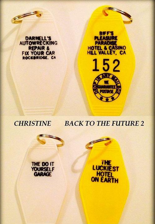 CHRISTINE & BACK TO THE FUTURE 2 key tags