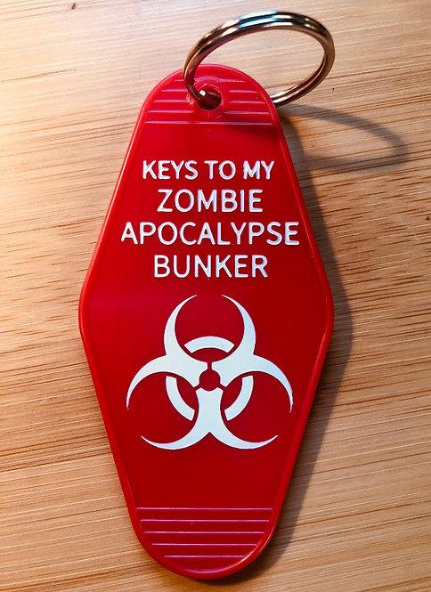 Keys to My ZOMBIE APOCALYPSE BUNKER keytag