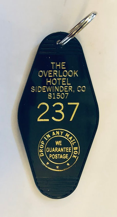 The Overlook Hotel Keytag (Black with Gold Print)