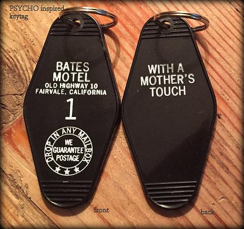 PSYCHO BATES motel room 1 keychain, key fob horror