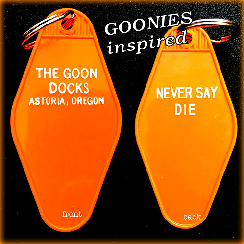 """GOONIES"" inspired THE GOONDOCKS keytag"