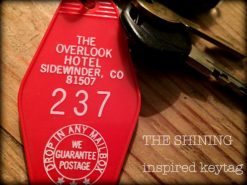 The Shining inspired OVERLOOK HOTEL Room 237 KEYCH