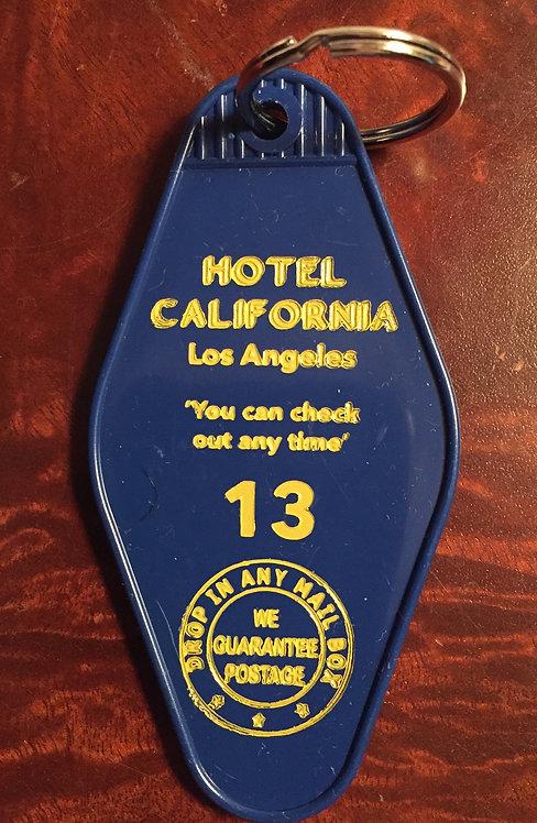HOTEL CALIFORNIA inspired keytag