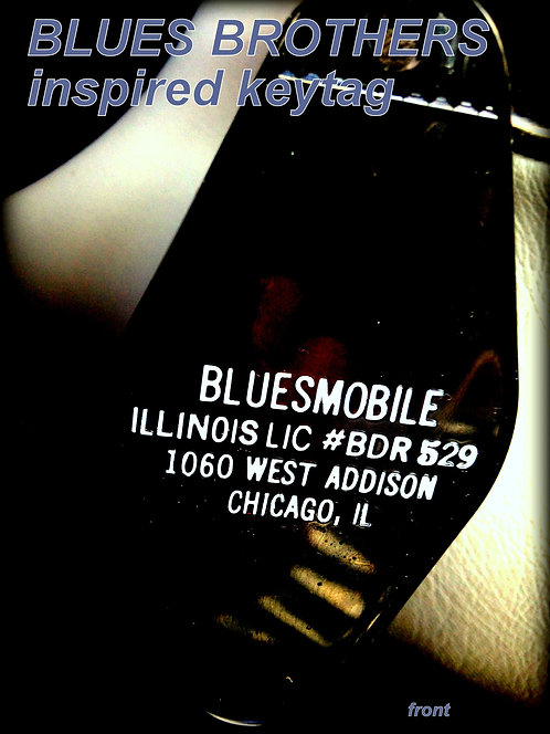 """BLUES BROTHERS Inspired """"Bluesmobile"""" keychain"""