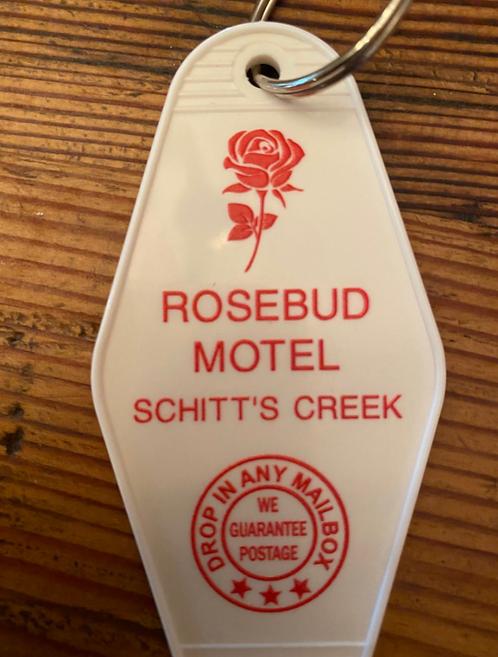 Schitt's Creek Inspired ROSEBUD MOTEL inspired keytag