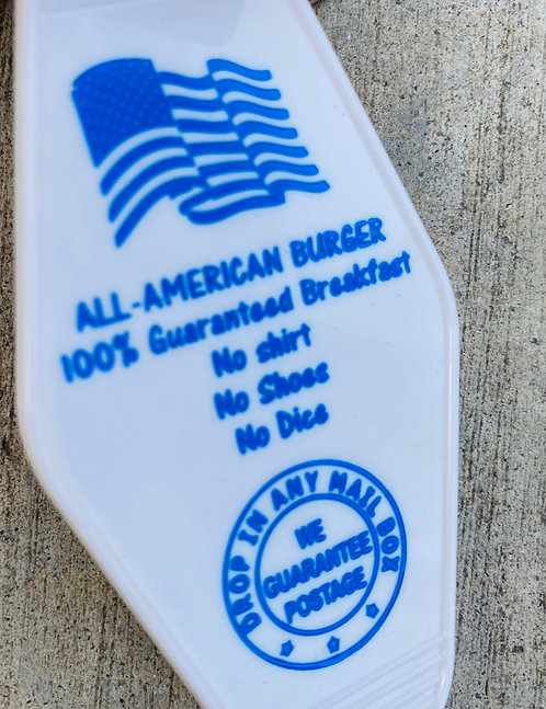All American burger – – Fast Times at Ridgemont high inspired keytag