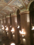 Palmer House Hilton. If you get a chance, stay here.