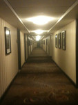Hallway photos Diamond Floor at Palmer House Hilton were wonderful. B&W's of legendary film, TV, music performers. Appreciated.