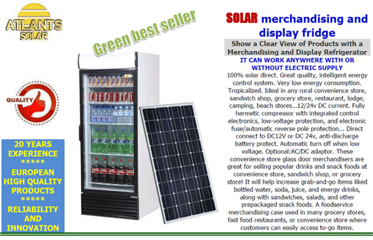 NEW SOLAR Merchandising and Display Refr